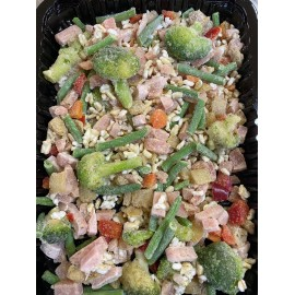 Arròs integral amb verdures i gall d'indi