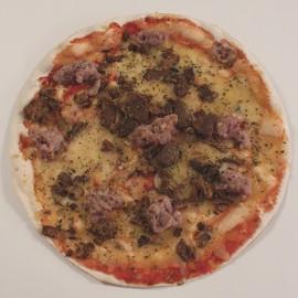 Pizza De botifarra amb rovellons