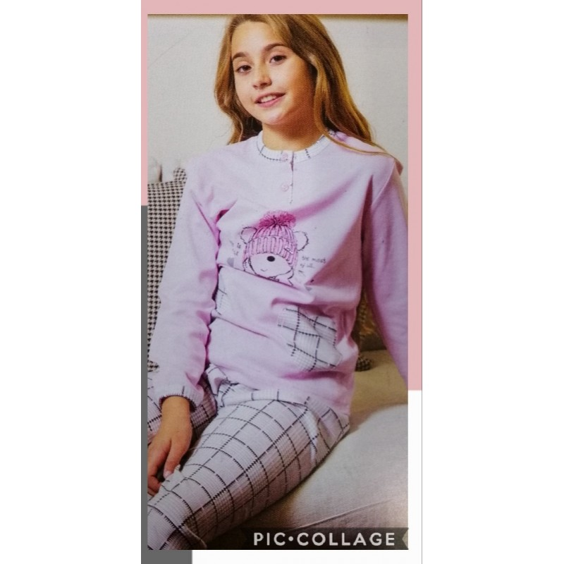 Pijames nena Musler. Talles 6 a 16,color rosa mod.204606